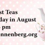 August Tea Event at Sonnenberg Gardens