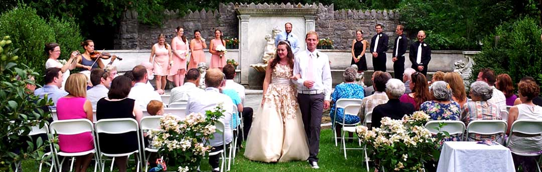 Wedding Ceremony in the SubRosa Garden