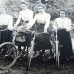 Women on bicycles (late 1800's)
