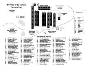 2019 Artist / Festival Map